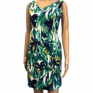 Cleo petite size 6 women's patterned fitted dress